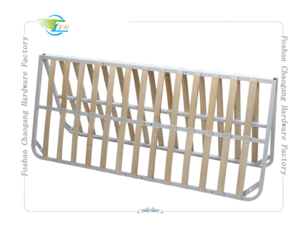 Double Fold Away Metal Slatted Bed Base , Strong Fold Up Metal Bed Frame