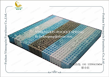 King Size Mattress Making Pocket Spring Unit With Non Woven Fabric Cover