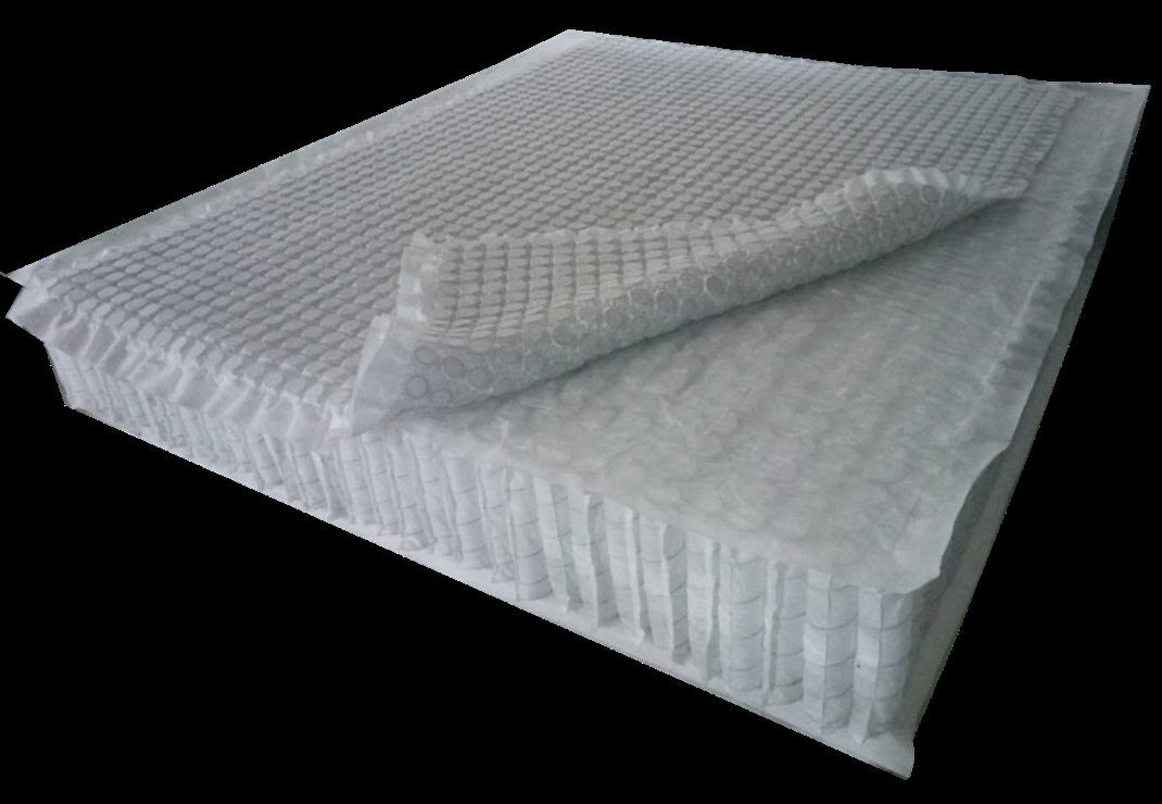 Super-elastic pocket spring mattress unit with additional mini-spring combination cap.